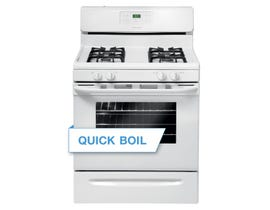 Frigidaire 30 inch 5 cu.ft. Freestanding Gas Range in white FFGF3023LW