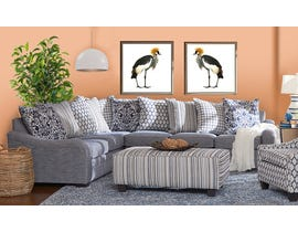 Flair Furniture Fabric LHF Sectional in Tangier Navy 6092