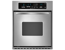 KitchenAid 24 inch 3.1 cu.ft. convection single wall oven architect series II handle in stainless steel KEBC147VSS