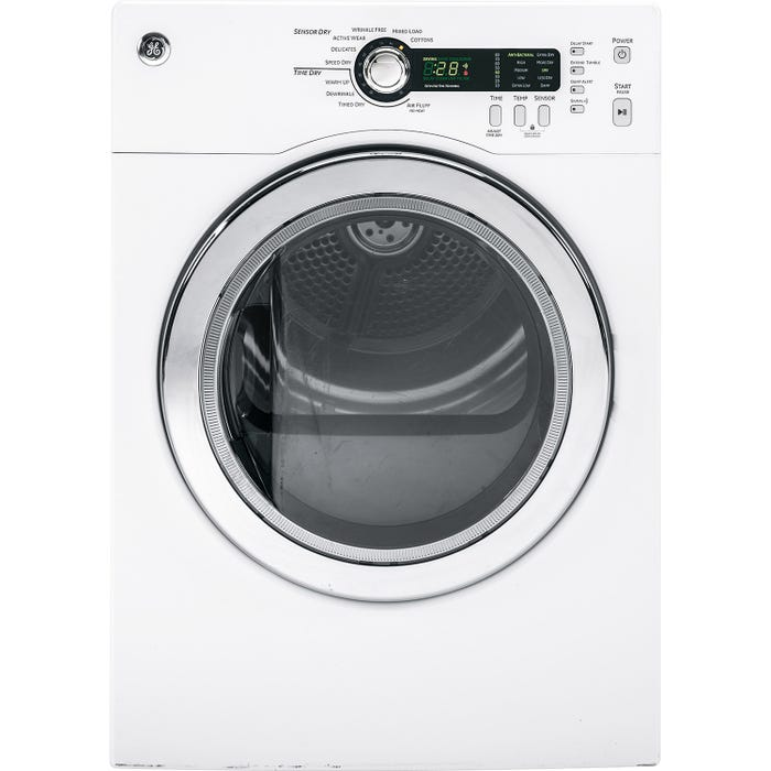 GE 4.0 cu.ft. Front Load Electric Dryer PCVH480EKWW