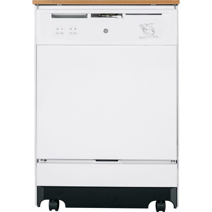 GE 25 Inch Portable Dishwasher in White GSC3500DWW