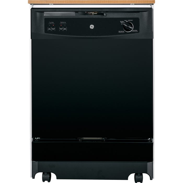 GE 25 Inch Portable Dishwasher in Black GSC3500DBB