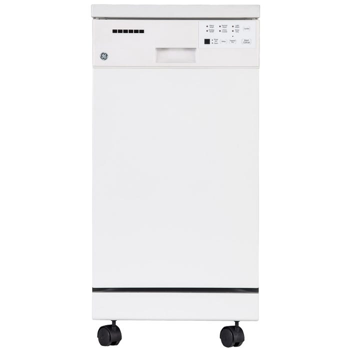 GE 18 inch Portable Dishwasher in White GSC1800VWW