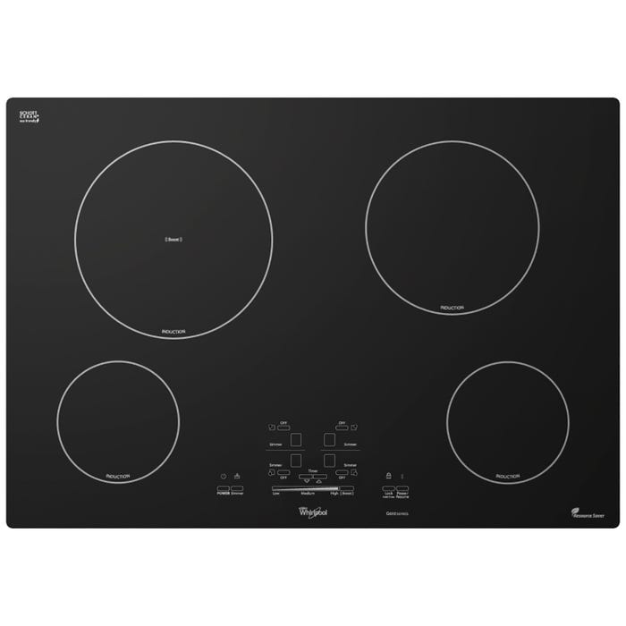 Whirlpool Gold 30 inch Induction Cooktop in black GCI3061XB