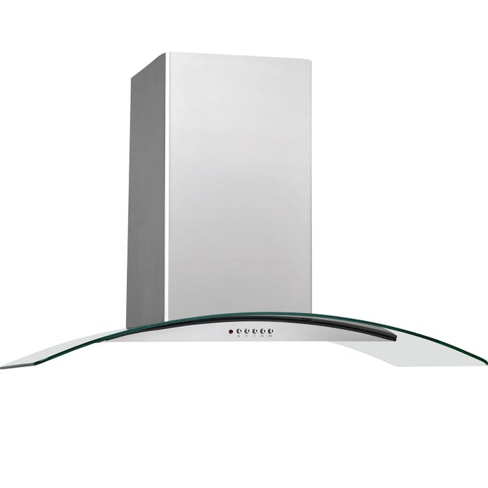 Frigidaire 30 inch Glass Canopy Wall-Mount Hood in stainless steel FHWC3060LS