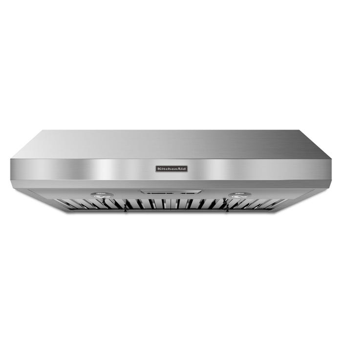 KitchenAid Range Hood 36-Inch Under-the-Cabinet 600 CFM Commercial Style in stainless steel KXU8036YSS