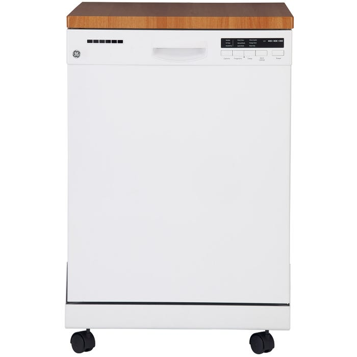 GE 24 Inch Portable Dishwasher in White GPF400SGFWW