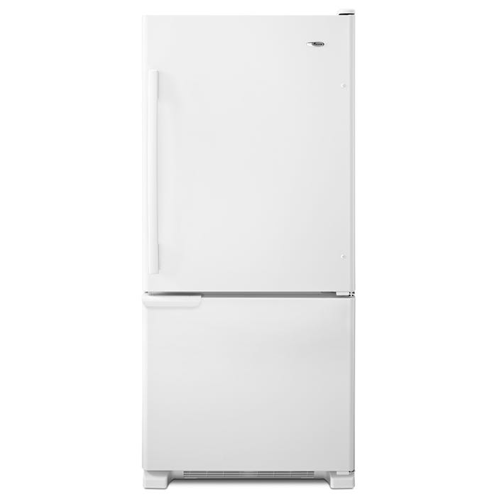 Amana 30 inch 18.5 cu. ft. Bottom-Freezer Refrigerator With ENERGY STAR Qualification in white ABB1921BRW