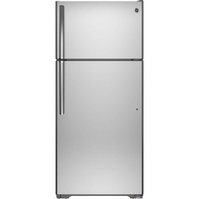 GE 28 inch 15.5 cu.ft. Top MountRefrigerator No Frost in stainless steel GTE16GSHSS