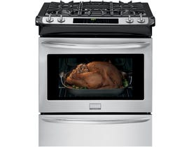 Frigidaire Gallery 30 inch 4.5 cu.ft. Slide-in Gas Range in stainless steel FGGS3065PF