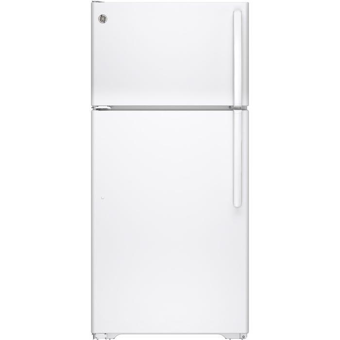 GE 28 inch 14.6 cu.ft. Top Mount Refrigerator No Frost in white GTE15CTHLWW