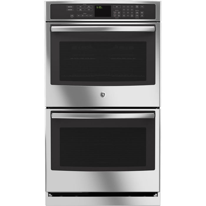 GE Profile 30 inch 10.0 cu.ft. Electric Convection Double Wall Oven with Self Cleaning in stainless steel PT7550SFSS