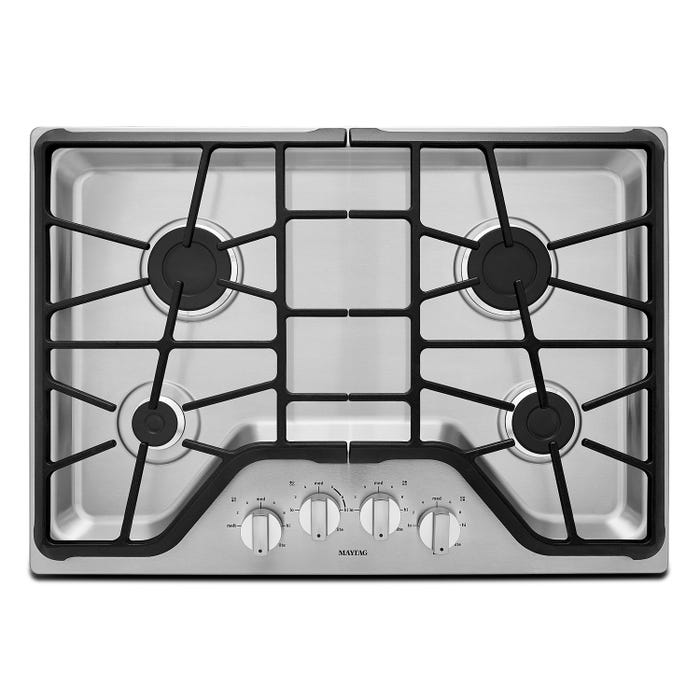 Maytag 30 inch 4 burner Gas Cooktop with Power Burner MGC7430DS