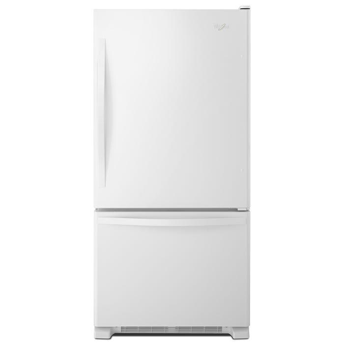 Whirlpool 33 inch 22 cu.ft. Bottom Freezer Refrigerator with Freezer Drawer in white WRB322DMBW