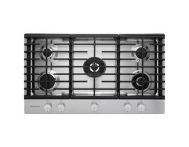 KitchenAid 36 inch 5 burner gas cooktop in stainless steel KCGS556ESS