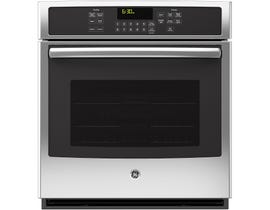 GE 27 inch 4.3 cu.ft. Self Clean Single Electric Convection Wall Oven in Stainless Steel JCK5000SFSS