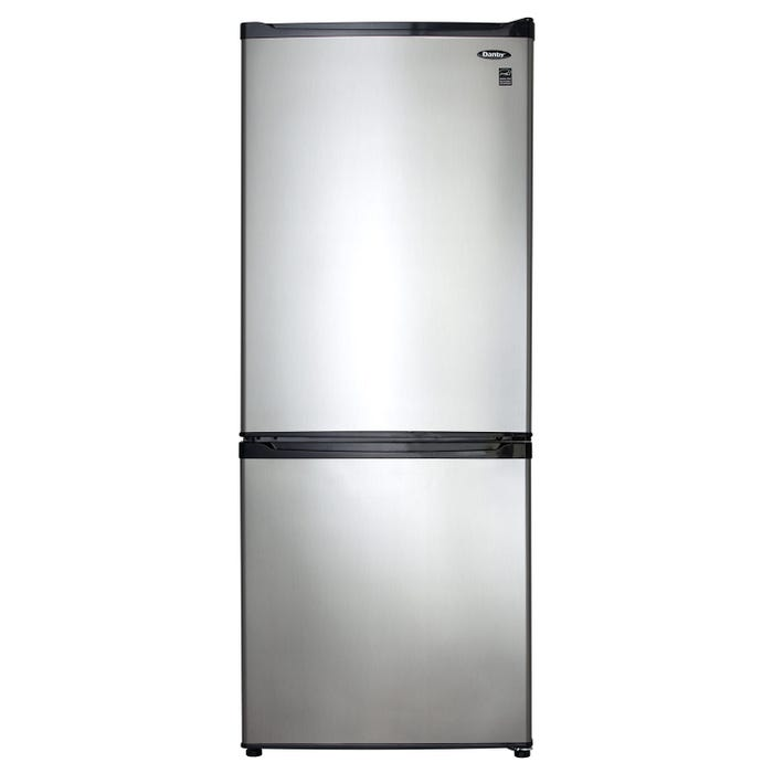 Danby 24 inch 9.2 cu.ft. Apartment Size Refrigerator in stainless steel DFF092C1BSLDB