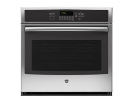 GE 30 inch 5.0 cu.ft. single Electric Convection Wall Oven with Self Cleaning in stainless steel JCT5000SFSS