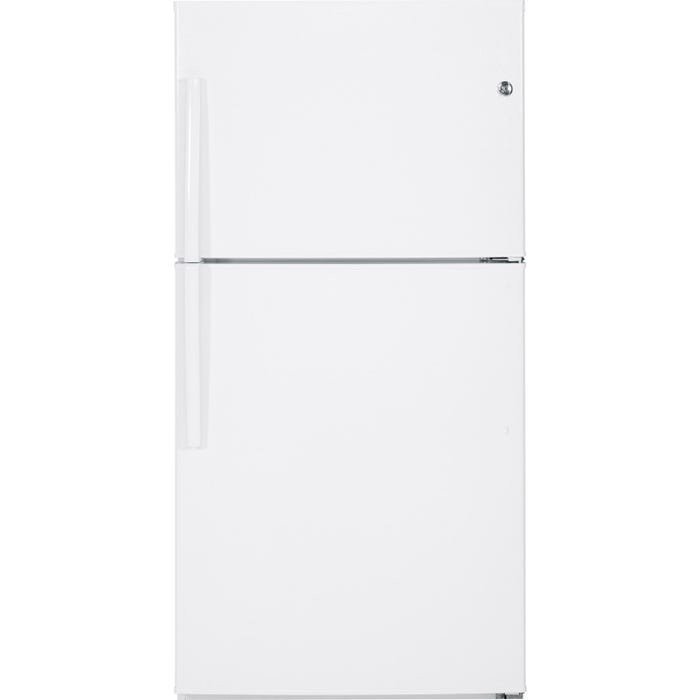 GE 33 inch 21.2 cu.ft. Top MountRefrigerator No Frost in white GTE21GTHWW