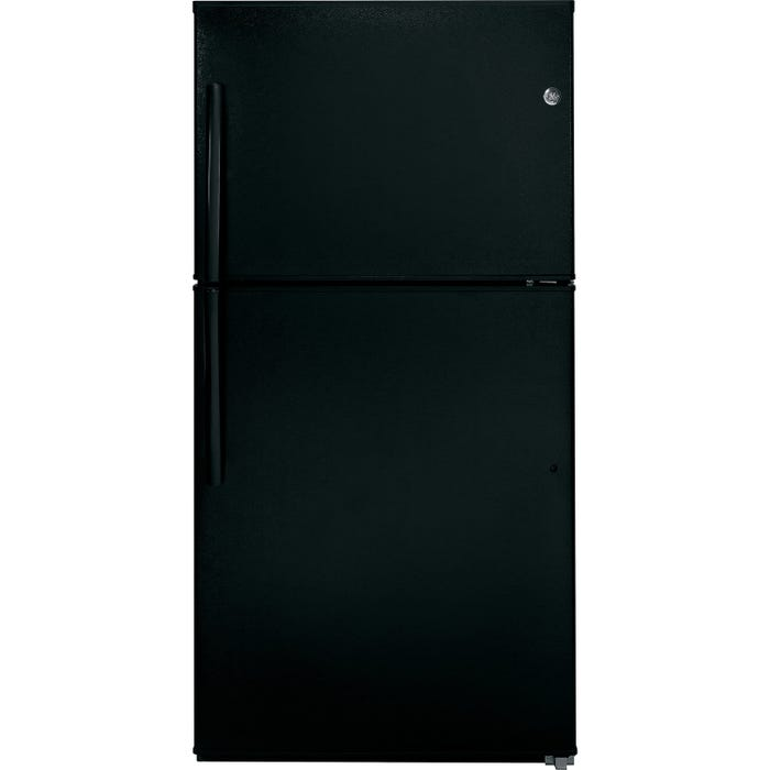 GE 33 inch 21.2 cu.ft. Top Mount Refrigerator No Frost in black GTE21GTHBB
