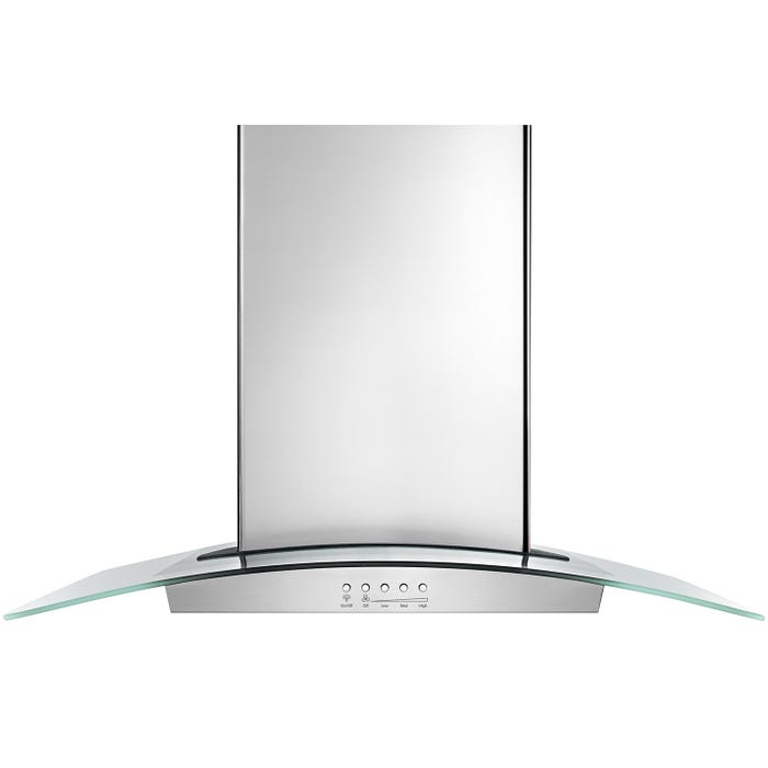 Whirlpool 36 inch Convertible Glass Kitchen Range Hood with Quiet Partner Blower in stainless steel WVW75UC6DS