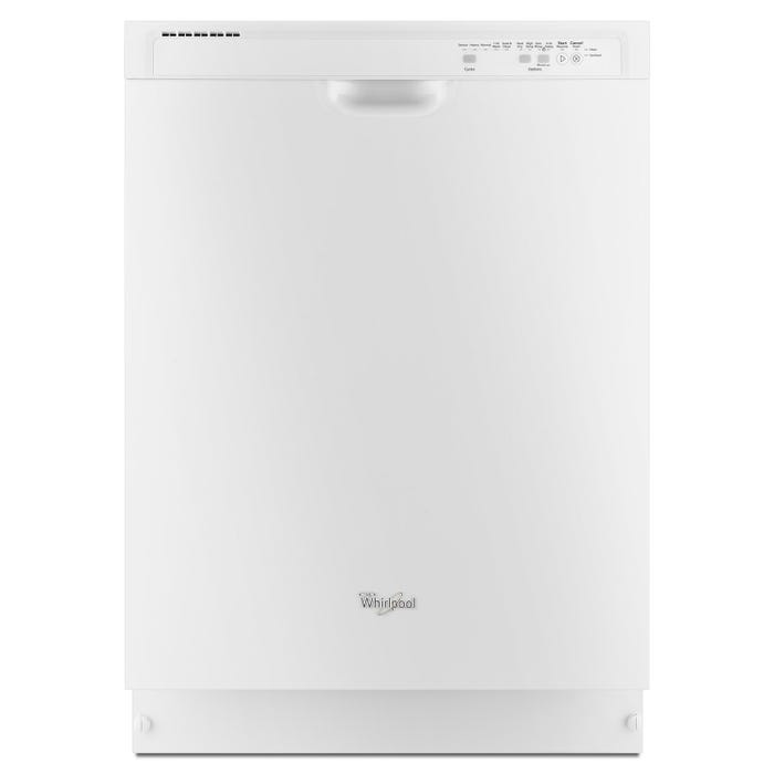 Whirlpool 23 7/8 Inch Dishwasher with Sensor Cycle in White