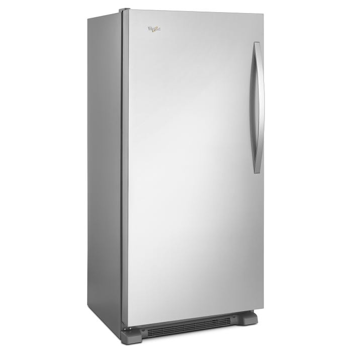 Whirlpool 30 1/4 inch 18 cu ft  freezer with Fast Freeze in stainless steel  WSZ57L18DM