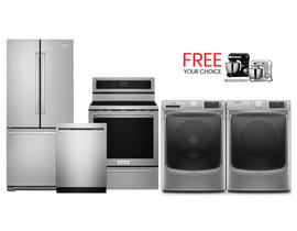 KitchenAid/Maytag 5pc Appliances Bundle in Stainless 910288/094327/113136/094319