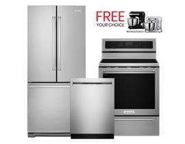 KitchenAid 3pc Appliances Bundle in Stainless 094327/113136/094319