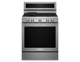 KitchenAid 30 inch 5.8 cu.ft. 5 burner gas convection range in stainless steel KFGG500ESS