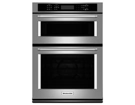 KitchenAid  30-inch 6.4 cu.ft Combination Wall Oven True Convection with Even Heat in stainless steel KOCE500ESS