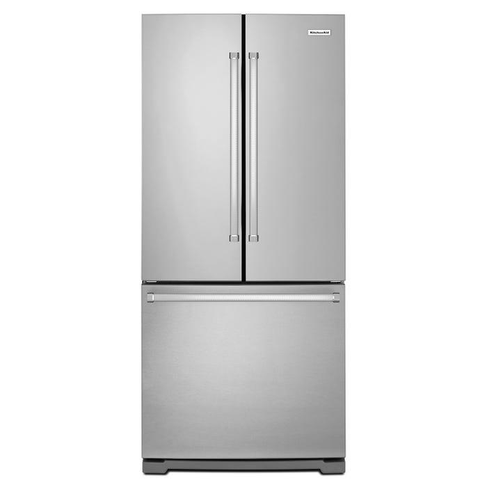 KitchenAid 30 inch 20 cu.ft. French Door Refrigerator in Stainless Steel KRFF300ESS