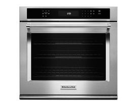 KitchenAid 30 inch 5.0 cu. ft. True Convection Single Wall Oven with Even Heat in Stainless Steel KOSE500ESS