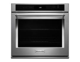 KitchenAid 30-inch 5.0 cu.ft. Single Wall Oven  with Even Heat Thermal Bake Broil in stainless steel KOST100ESS