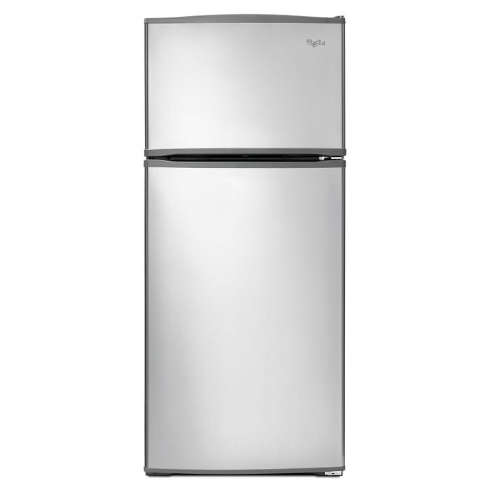 Whirlpool 28 inch Wide 16 cu.ft. Top Freezer Refrigerator in stainless steel WRT316SFDM