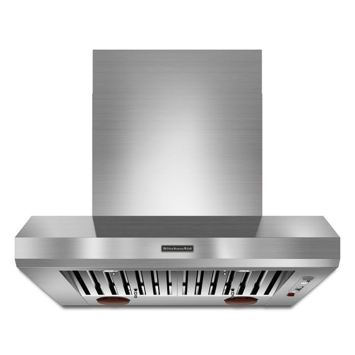 KitchenAid Canopy Hood 36-inch Wall Mount 600-1200 CFM Commercial Style in stainless steel KXW9736YSS