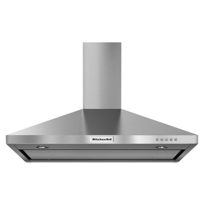 KitchenAid 36-inch wall mount 3-speed canopy hood in stainless steel KVWB406DSS