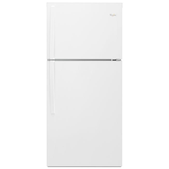 Whirlpool  33 inch Wide 21 cu.ft. Top Freezer Refrigerator with Optional EZ Connect Icemaker Kit in white WRT541SZDW