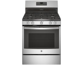 GE 30 inch 5.0 cu.ft. Freestanding Self Clean 5-Burners Gas Range in Stainless Steel JCGB660SEJSS