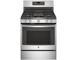 GE 30 Inch Free-Standing Gas Convection Range in Stainless Steel JCGB700SEJSS