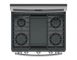 GE Profile 30 inch 5.6 cu.ft Free Standing Convection Gas Range with Self Cleaning in stainless steel PCGB911SEJSS
