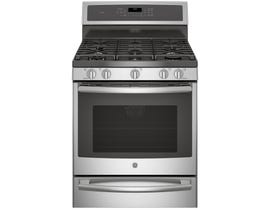 GE Profile 30 inch 5.6 cu.ft. Freestanding Self Clean Convection Gas Range with Warming Drawer in Stainless Steel PCGB940SEJSS