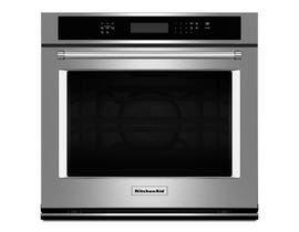KitchenAid 27 inch 4.3 cu.ft. Single Wall Oven True Convection  with Even Heat in stainless steel KOSE507ESS
