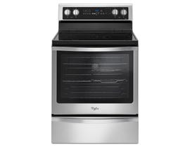 "Whirlpool 30"" 6.4 cu. ft. Freestanding Electric Range with True Convection in Stainless Steel YWFE745H0FS"