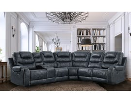 High Society Paramount Series 6 pc Sectional in Sierra Navy UPM30011