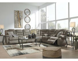 Signature Design by Ashley 3pc Reclining Sectional in Cobblestone 10104S1