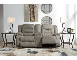 Signature Design by Ashley Reclining Loveseat with Console in Cobblestone 1010494
