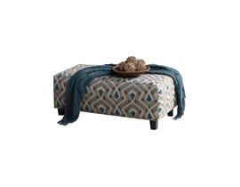 Flair Furniture Diamond Fabric Ottoman in Grey Multi-Colour Pattern 1010
