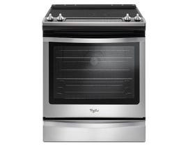 "Whirlpool 30"" 6.4 cu.ft. Slide-In Electric Range with True Convection in Stainless Steel YWEE745H0FS"