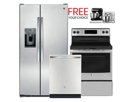 GE Appliances 3pc Appliances Package in Stainless 101703/108141/117835